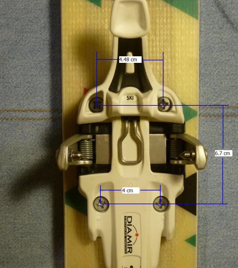 Fritschi Vipec 12 toe mounting pattern dimensions